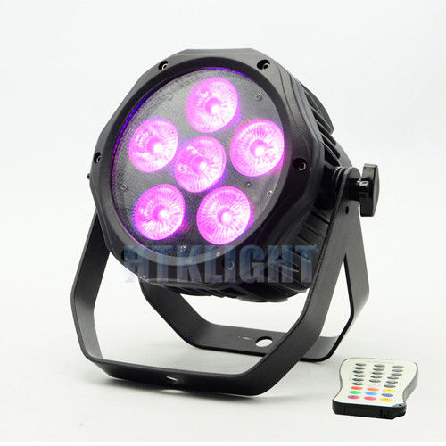 6 * 18W RGBWA + UV 6 in1 Battery Powered DMX Lights / Led Par Light