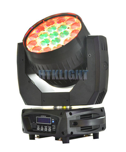 Die - Cast Alluminun And Plastic LED Moving Head Wash Light With 8 - 50 Degree Zoom Angle